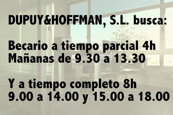 Dupuy & Hoffman busca becarios
